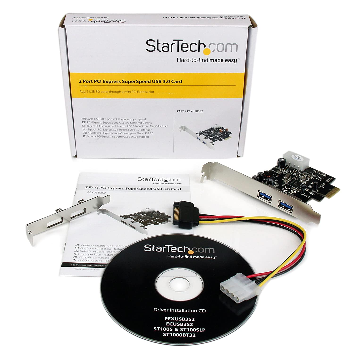 StarTech.com 2 Port PCI Express SuperSpeed USB 3.0 Card Adapter PEXUSB3S2