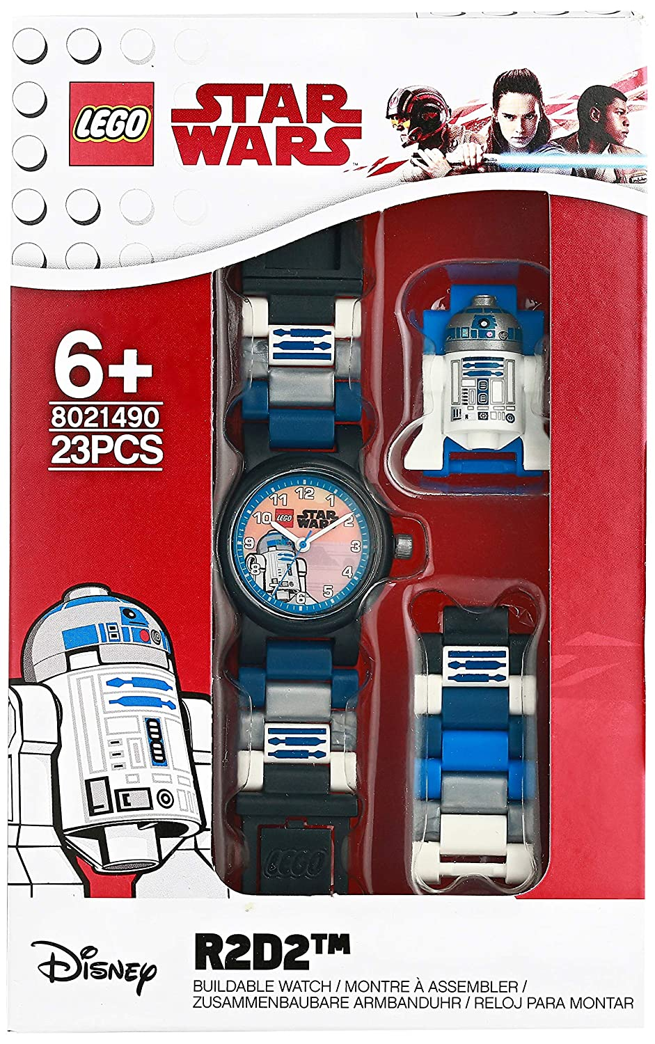 Amazon.com: LEGO Watches and Clocks Boys Star Wars R2D2 Quartz Plastic Casual watch, Color:Blue (Model: 8021490): Watches