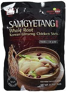 Haitai Samgyetang Whole Root Korean Ginseng Chicken Stew, 1.98 Pound
