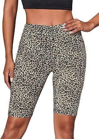 Shein Pantalones Cortos De Mujer Lisos Ajustados De Cintura Alta Para Entrenamiento Yoga Correr Deportes Motociclista Large Amazon Es Ropa Y Accesorios