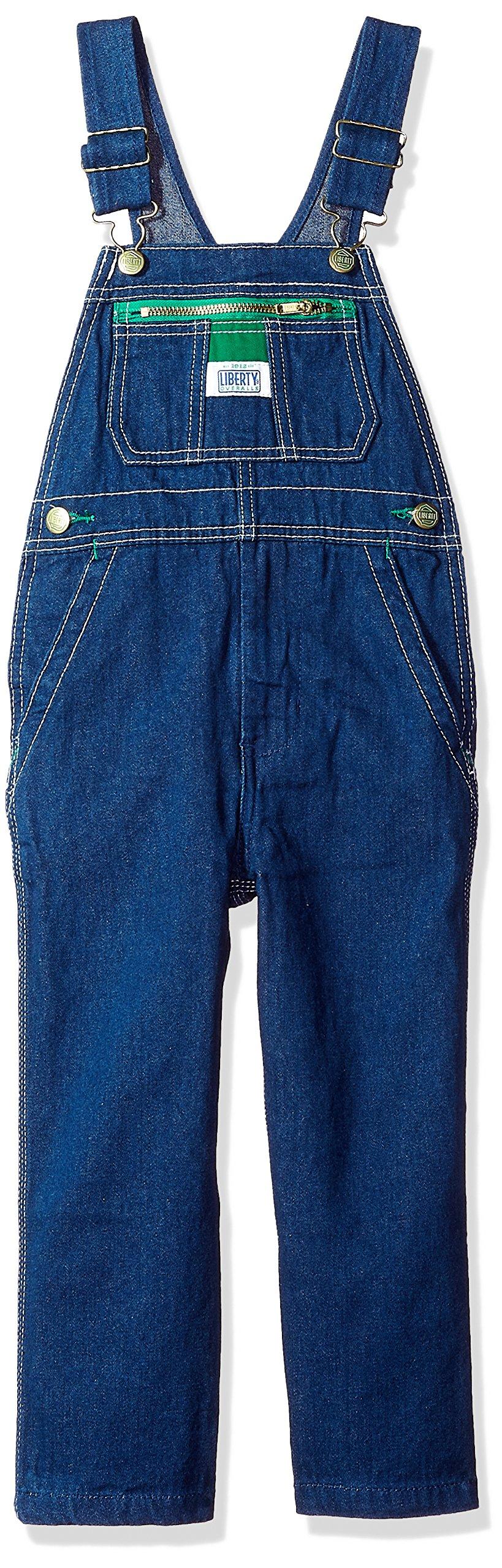 Liberty Little' Pre-School Boy's Denim Bib Overall, Rigid Blue, 4