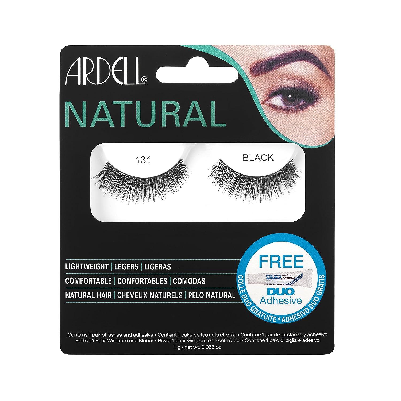 61729c9685b Amazon.com : Ardell Natural Fake Eye Lashes, 131 Black : Fake Eyelashes And  Adhesives : Beauty