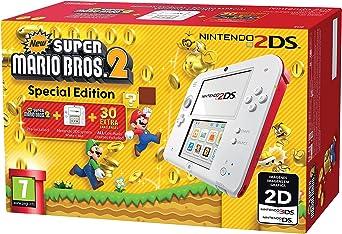 Nintendo 2DS - Consola, Color Rojo + New Super Mario Bros 2 (Preinstalado): Amazon.es: Videojuegos