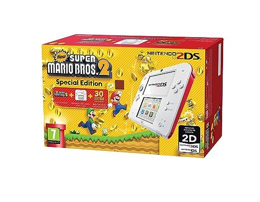 215 opinioni per Nintendo 2DS Console, Bianco e Rosso + New Super Mario Bros 2