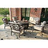 Hanseatisches Im- & Export Contor GmbH Aluguss Gartenmöbel Set, Gartenmöbelgarnitur bestehend aus 1 Garten-Sofa und 4 Garten-Sessel