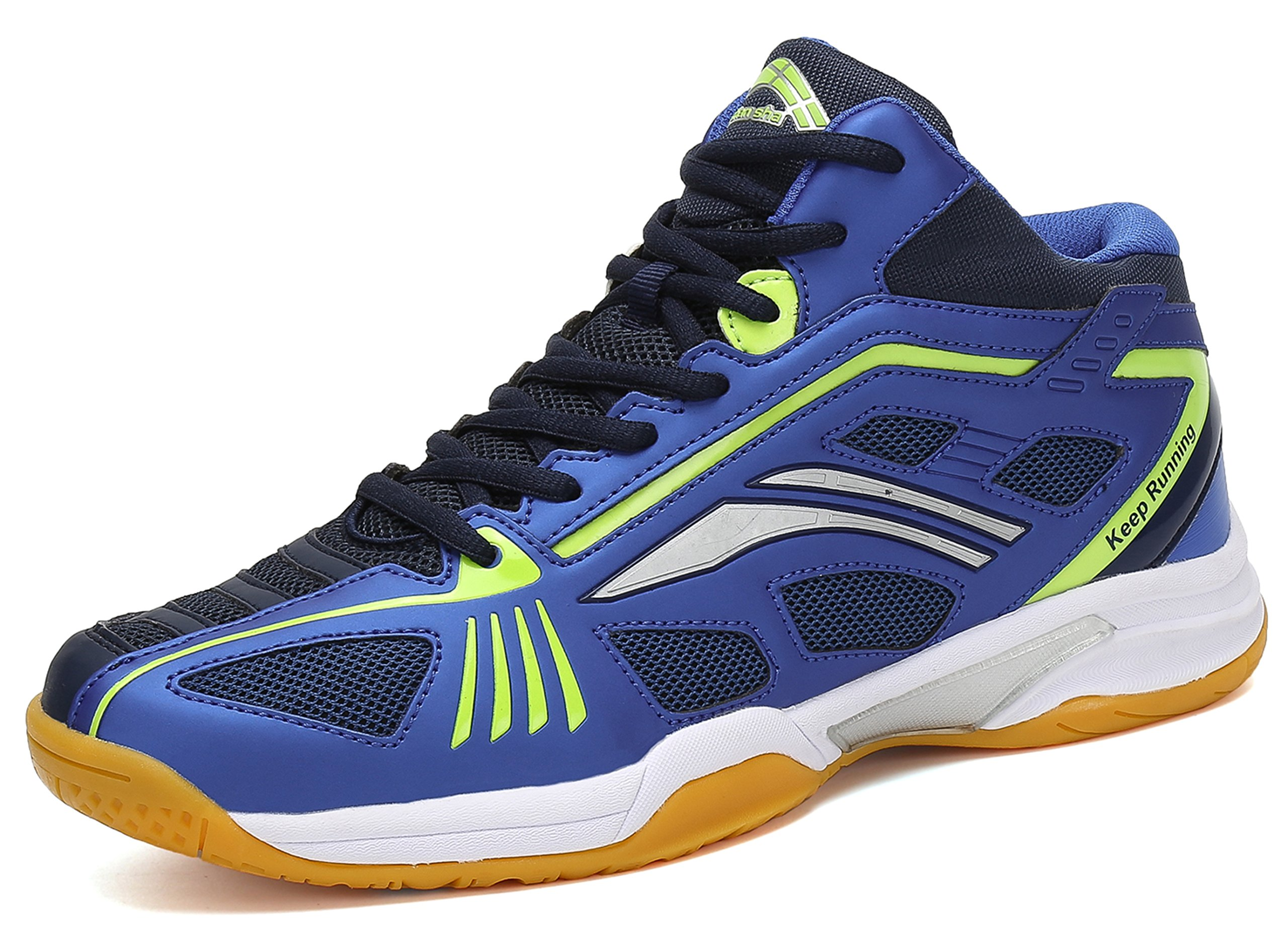 Fashiontown Badminton Shoes Men Non Slip Indoor Court Sneakers Wide Safety Training Shoe