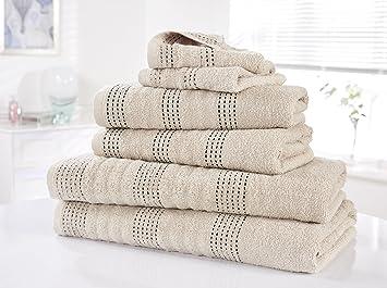 Rapport Spa - Juego de toallas (M2), 100% algodón - Color Gris: Amazon.es: Hogar
