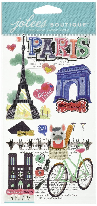 motivo Foglio A4 con adesivi per scrapbooking Parigi E17