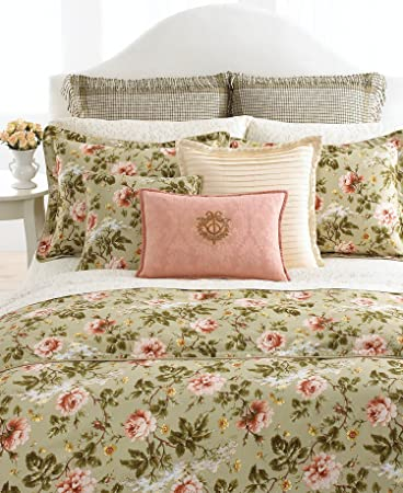 Delicieux Lauren By Ralph Lauren Bedding Yorkshire Rose Tonal Vine Cream KING Fitted  Sheet