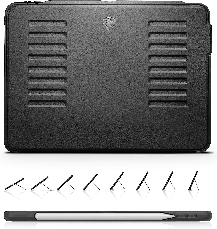 Zugu Ipad Pro 11 Hülle 2018 Muse Schlanke Schutzhülle 8 Winkel Ständer Magnetisch Aufladen Des Ipad Stifte Ipadpro 11 Schwarz Elektronik