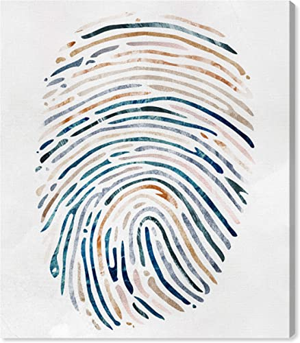 Amazon Brand Rivet Multi-Color Canvas Fingerprint Wall Art