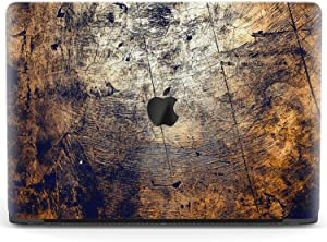 Mertak Hard Case for Apple MacBook Pro 16 Air 13 inch Mac 15 Retina 12 11 2020 2019 2018 2017 Design Plastic Texture Grain Print Wood Grunge Clear Laptop Cover Touch Bar Protective Luxury Old Aged