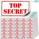 480x Top Secret Stickers (38 x 21mm) Clean, Clear & Consistent. High Quality Self Adhesive Labels. Free First Class UK Delivery.