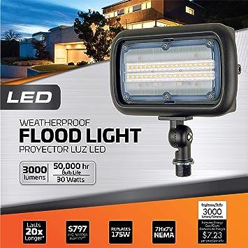 Details about  /BRIGHT 30 LED LIGHT FLOOD LAMP+7 LED FLASHLIGHT+BUILT IN MAGNET+SWIVEL HANGING