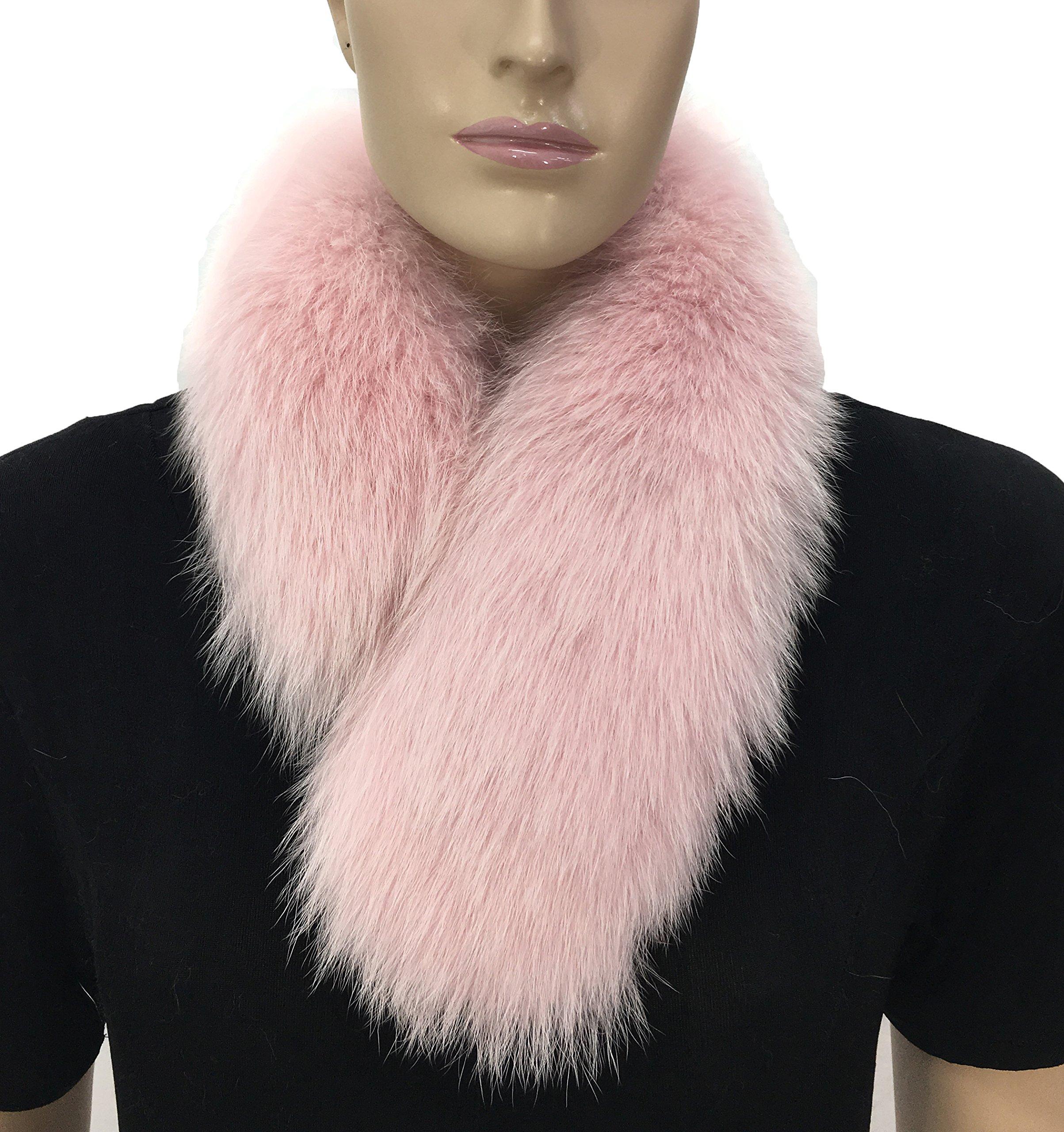 HIMA 100% Real Fox Fur Headband (Baby Pink) by Hima