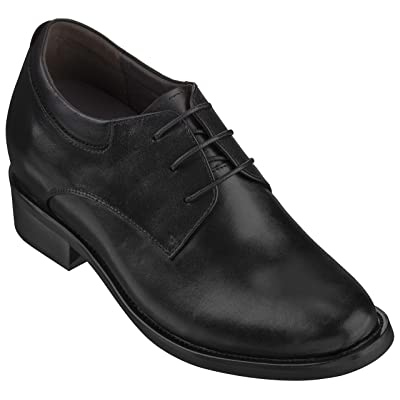Amazon.com | Calden Men's Invisible Height Increasing Elevator Shoes - Black Leather Lace-up Lightweight Formal Oxfords - 4 Inches Taller - K59510 | Oxfords