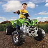 Best Selling Battery Powered Electric ATV Four-Wheeler Ride On Vehicle With All-Terrain Tires Dual Speed For Kids Toddlers- Ride Off-Road With The Big Boys- Realistic AWD Vehicle- Durable Tough Fun