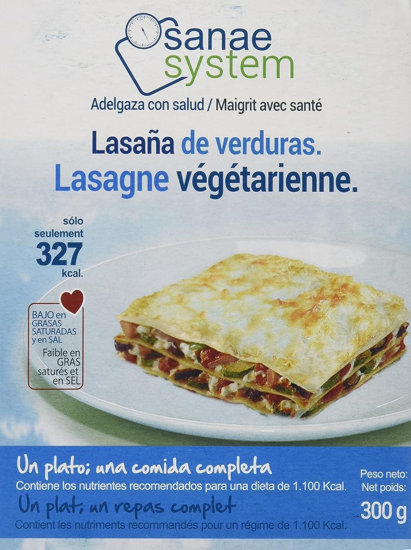 Menú Sanae Lasaña Vegetariana - 4 Paquetes de 300 gr - Total: 1200 gr