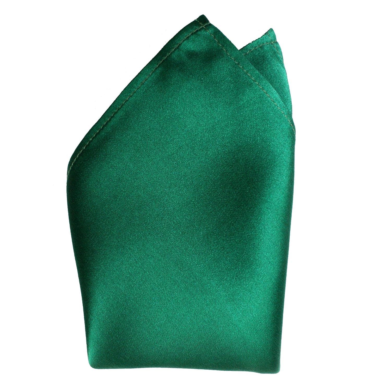 Creamy Satin Silk Handkerchief by Royal Silk - Dark Green - Full-Sized 16x16 571