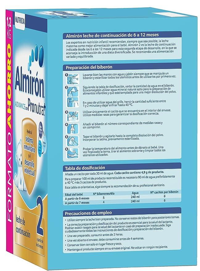 Almirón Advance con Pronutra 2 Leche de continuación en polvo desde los 6 meses - 1,2 kg: Amazon.es: Amazon Pantry