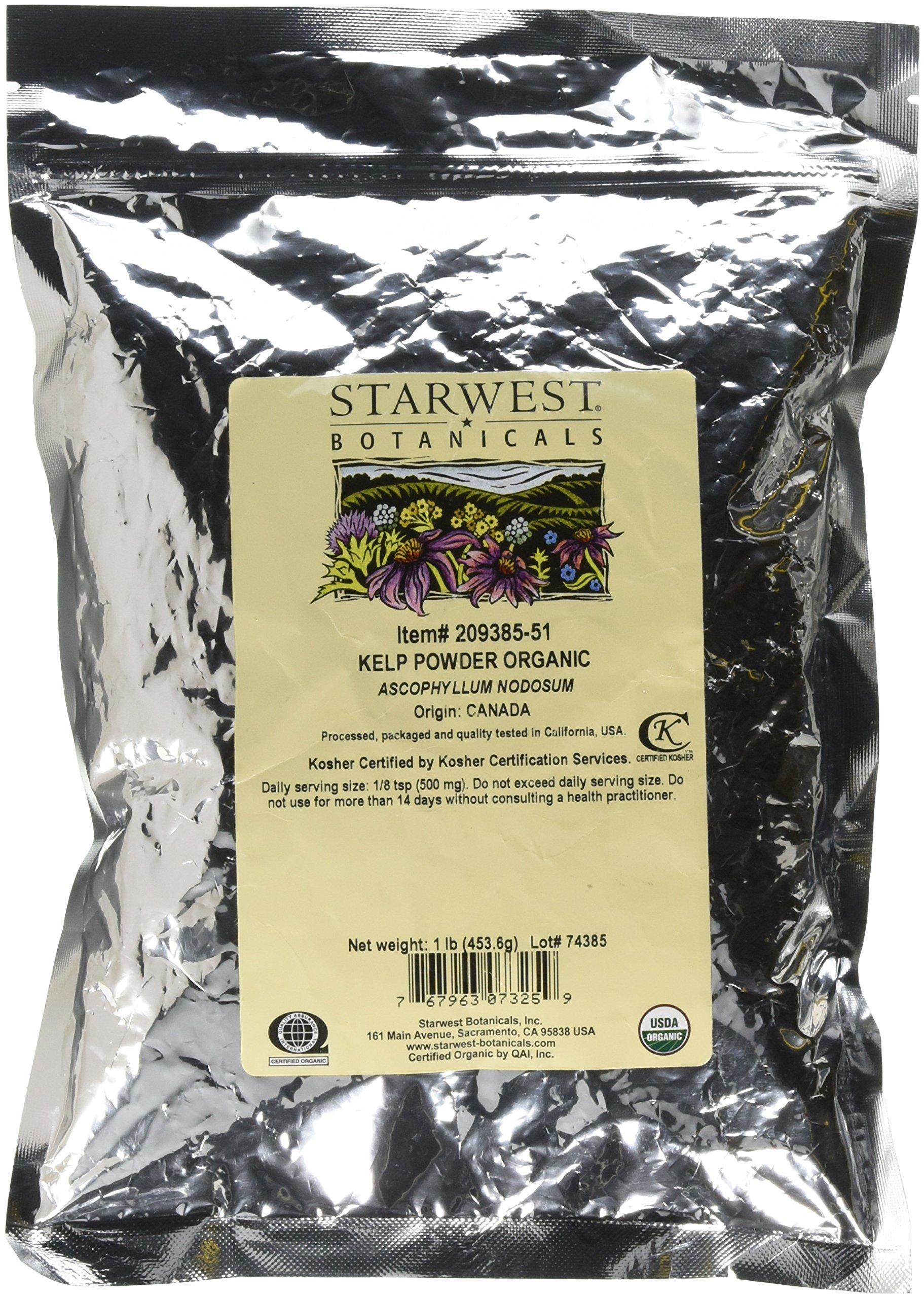 Starwest Botanicals Organic Kelp Powder, 1 Pound by Starwest Botanicals (Image #1)