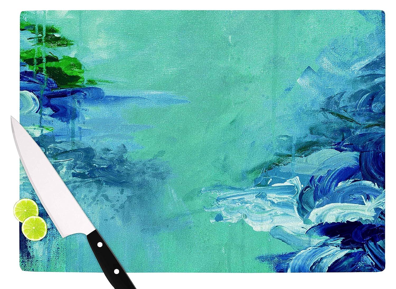 11.5 x 8.25 Multicolor KESS InHouse JD1205ACB01 Ebi EmporiumWinter Dreamland 6 Green Blue Cutting Board