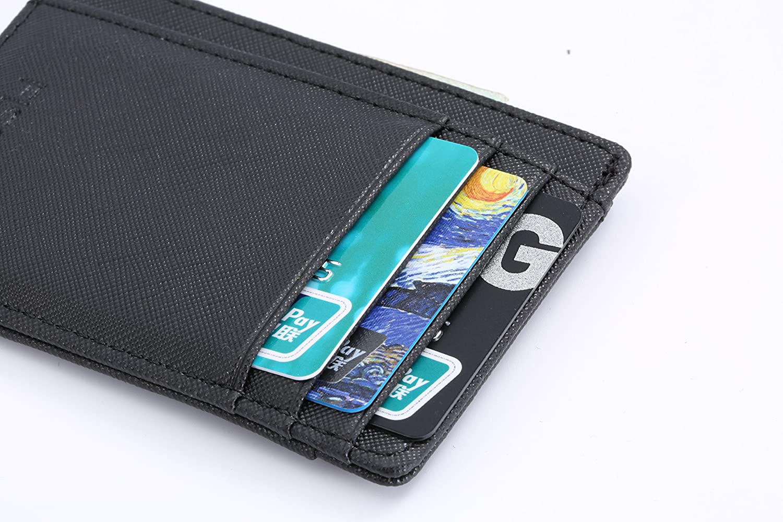 FISOUL Mens Front Pocket Wallet Thin Minimalist Leather,RFID Secure Blocking Leather Slim Card Holder