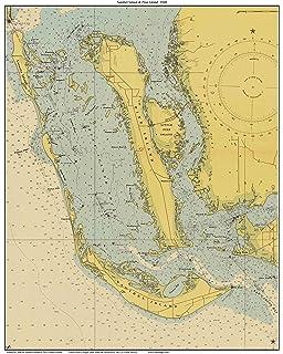 Map Of Pine Island Florida.Amazon Com Sanibel Fl Vintage Style Map Posters Prints
