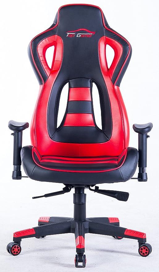 Top Gamer Silla de Juego de Alto Respaldo, Silla ergonómica de Carreras Silla de Oficina de Cuero Superior giratoria (Rojo): Amazon.es: Hogar