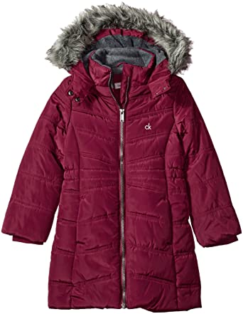 7653f80a6e5c Amazon.com  Calvin Klein Girls  Long Puffer Jacket  Clothing
