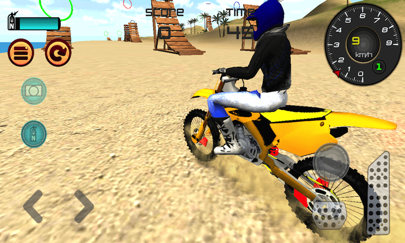 amazon com motocross beach jumping 3d motorcycle stunt game