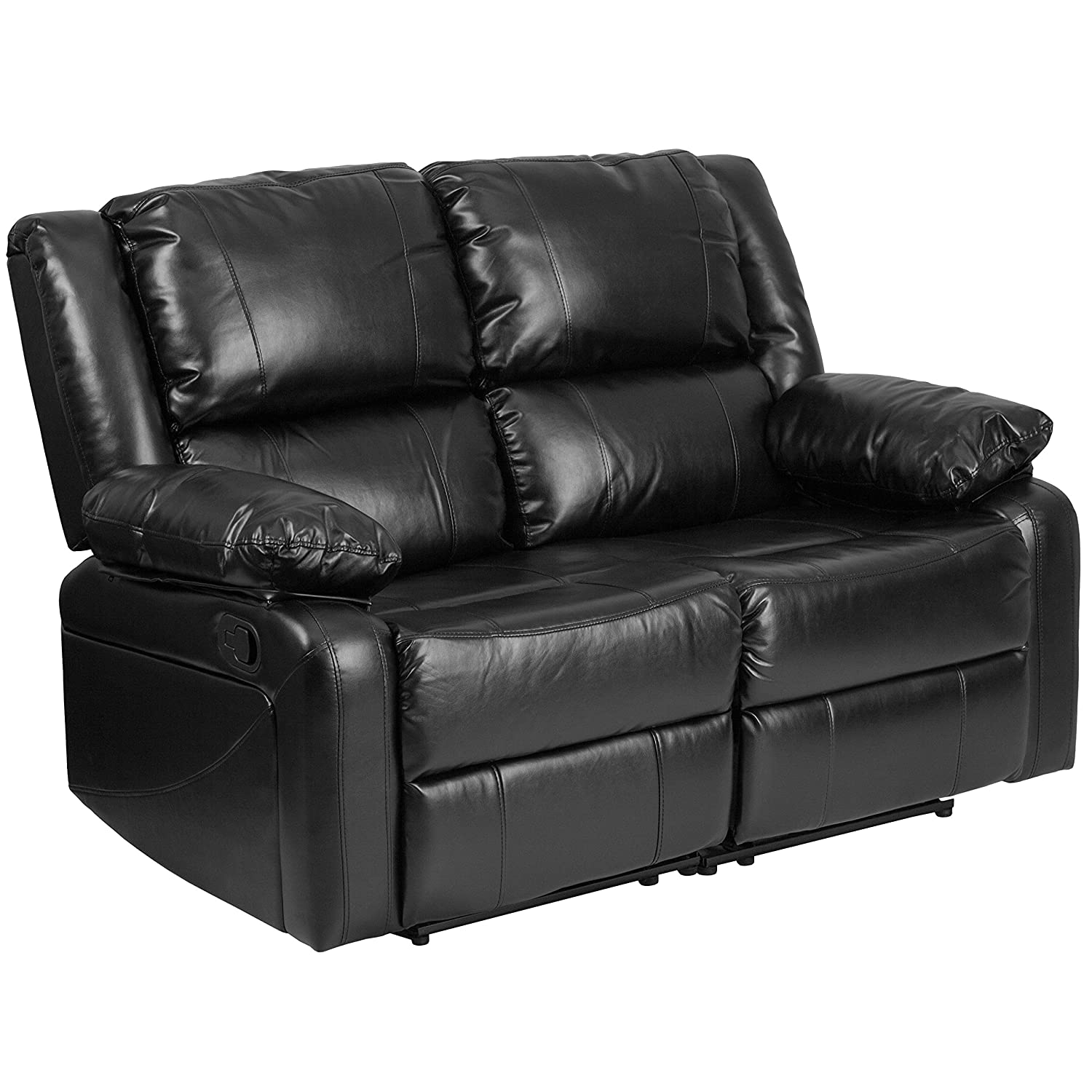Amazon Flash Furniture Harmony Series Black Leather Loveseat