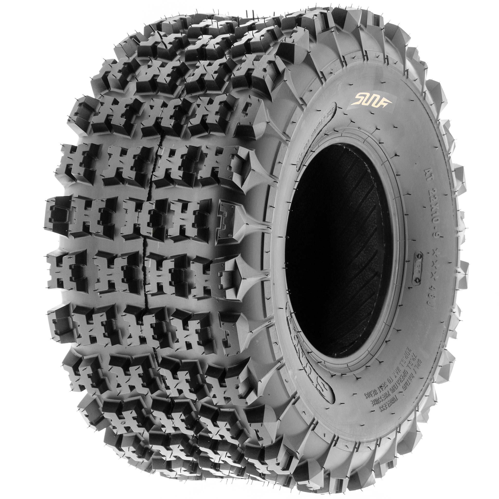 SunF 18x10.5-8 18x10.5x8 ATV UTV All Terrain Race Replacement 6 PR Tubeless Tires A027, [Set of 2] by SunF (Image #9)