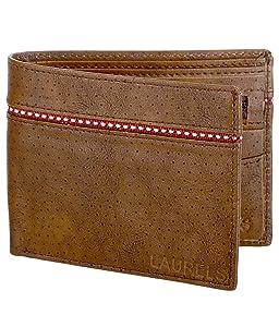 Laurels Mayhen Tan & Red Men's Wallet (Lw-Mh-0610)