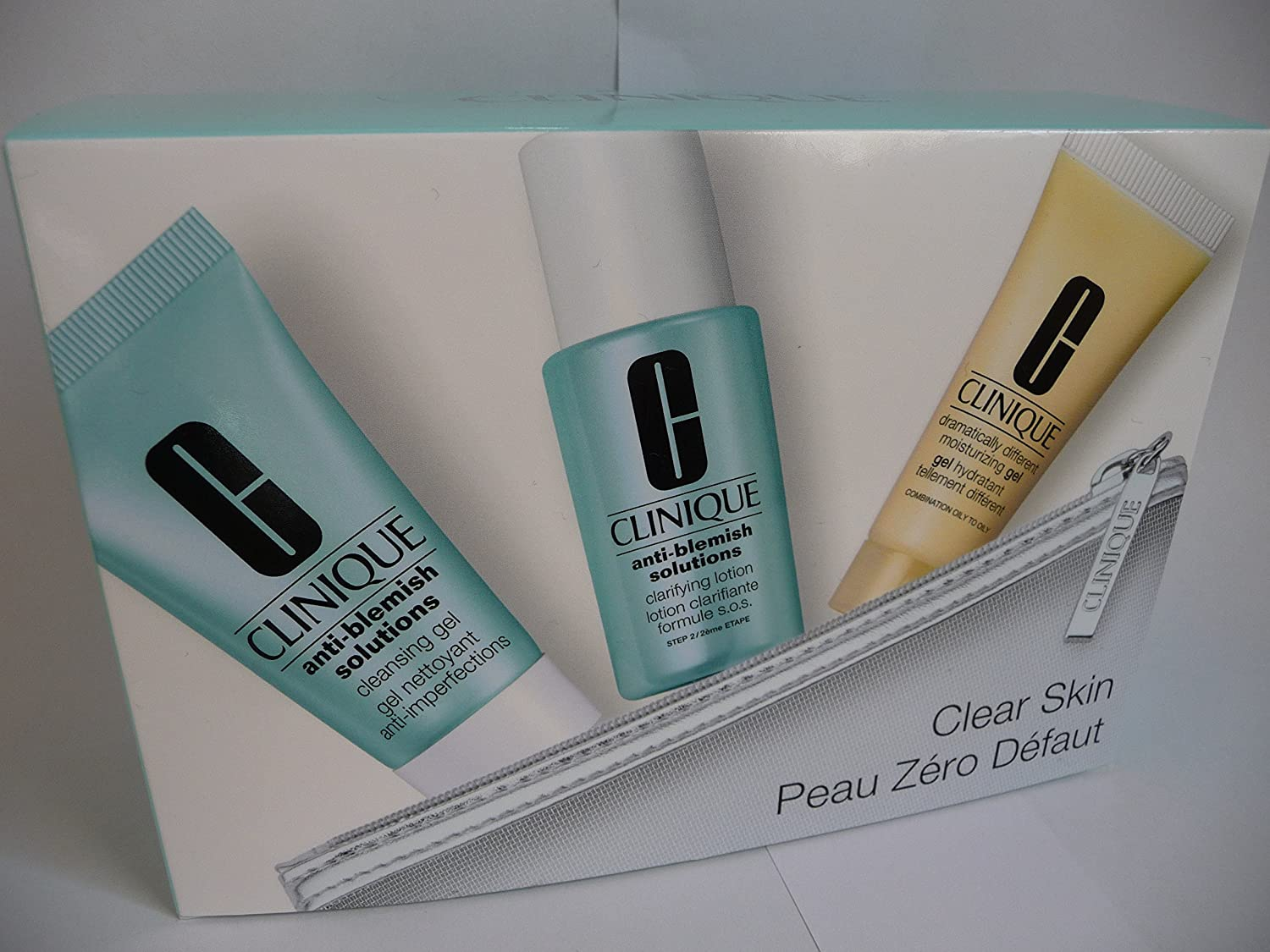 Clinique Anti Blemish Gesichtspflegeset (Cleansing Gel 30 ml + Dramatically Different Moisturizing Gel 15 ml + Clarifying Lotion 30 ml) 20714883294