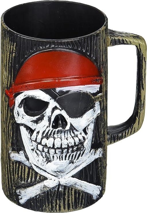 Amazon.com: Disfraz de pirata taza de cerveza de plástico ...