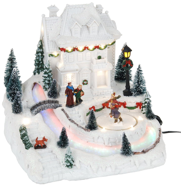Multicolore Viscio Trading 172294 Scena Resina Natale con Movimento e Luce