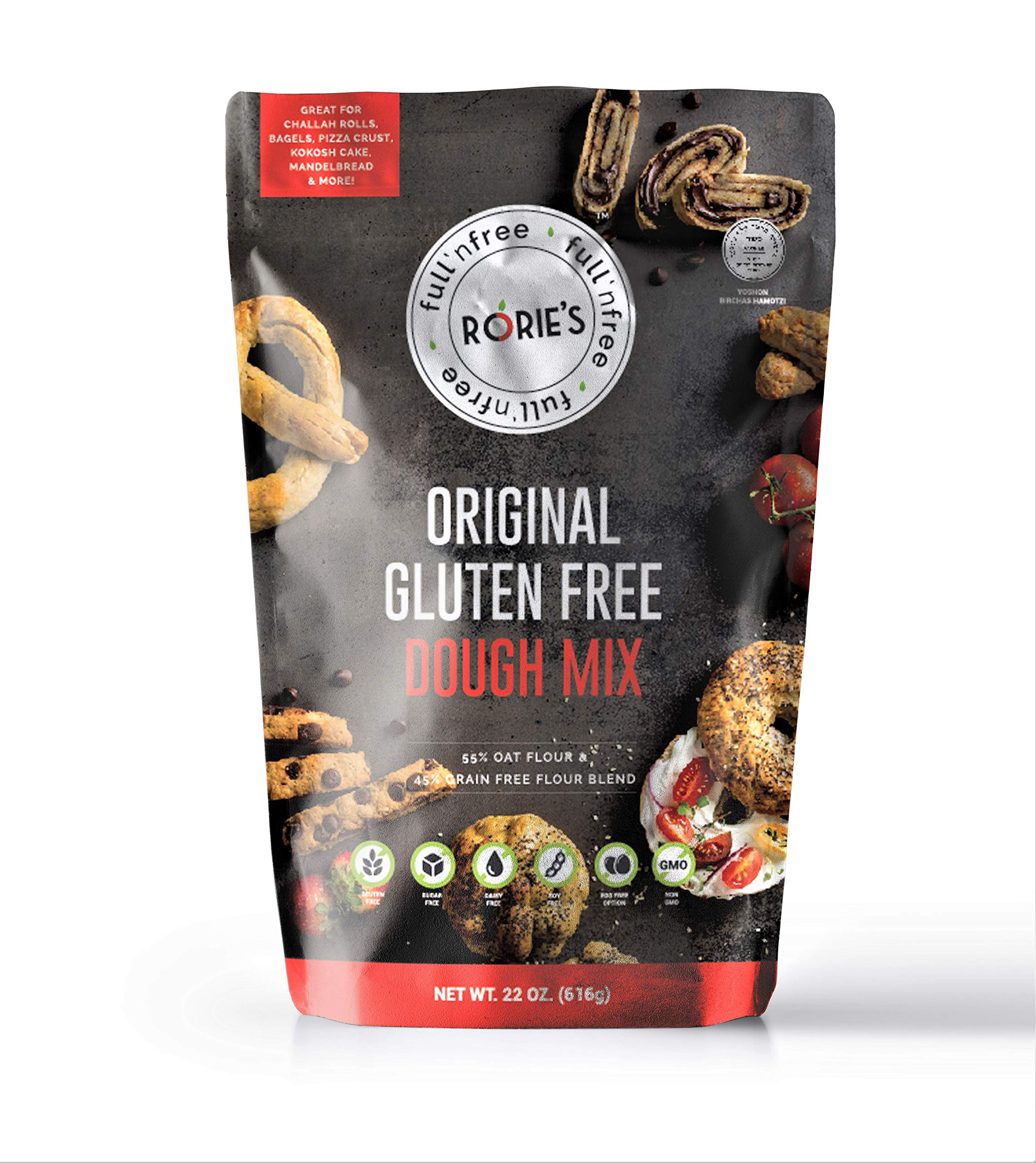Rories Gluten Free Oat Dough Mix 22 oz (Pack of 3) Living Full 'N free by Rorie's