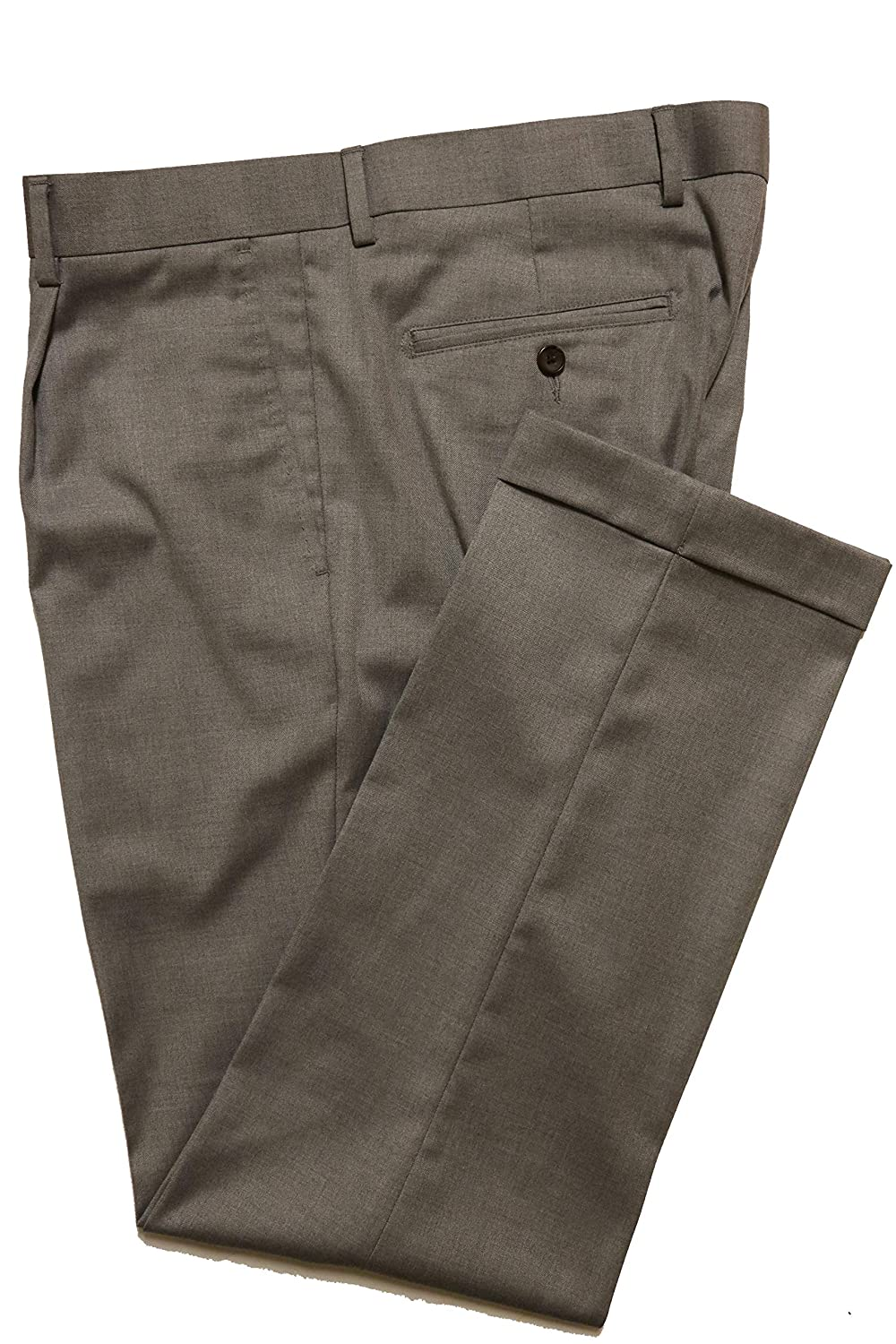 Cremieux Mens Milan Classic Fit Single Pleated Pants S85PX402 Grey Heather