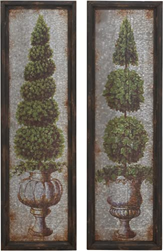 Deco 79 Metal WD Wall Decor, 2 Assorted, 16 by 53