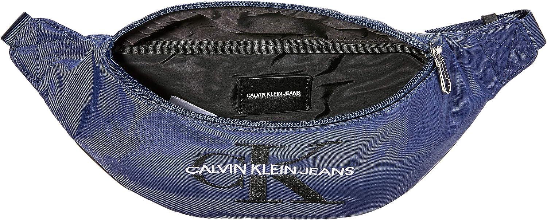 Calvin Klein Ckj Monogram Nylon Street Pack, Sacs portés épaule Bleu (Navy)