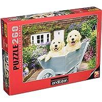 Bahçıvan Köpekler Puppıes ın A Wheelbarrow (Puzzle 260) 3310