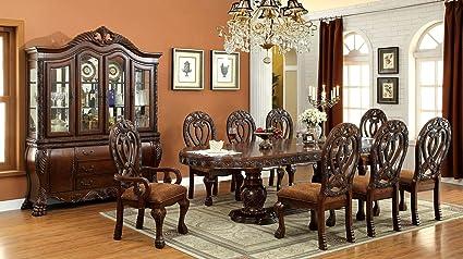 Amazoncom Inland Empire Furniture Wyndmere 9 Pc Dining Table W