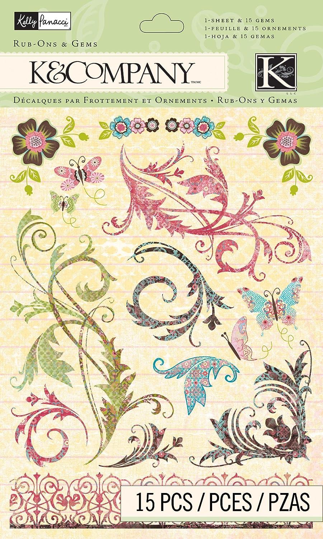 K&Company Rub-Ons With Gems, Kelly Panacci Blossom Swirl by K&Company B007IQEY4W