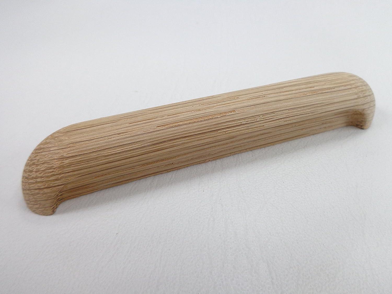 Maniglia in legno, adatta per mobili, la cucina e gli scaffali 96 mm, in rovere grezzo Harald Glass