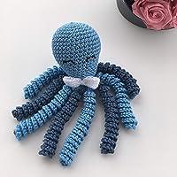 Crochet Octopus for babies - Light blue and denim