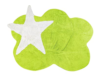 Tappeti Per Bambini Lavabili In Lavatrice : Aratextil mimosa tappeto per bambini cotone pistacchio x