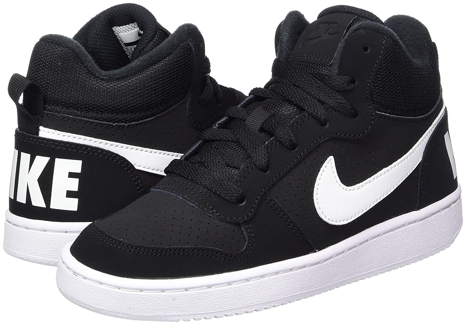 premium selection ef81c a2a70 NIKE Unisex Kids  Court Borough Mid (Gs) Basketball Shoes 839977-004 ...