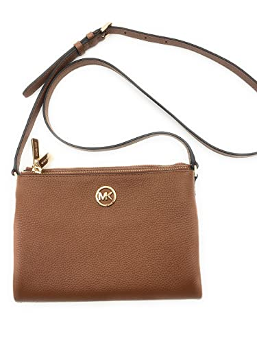 756072ef54df1 Michael Kors Fulton East West Leather Crossbody in Luggage - 35T6GFTC7L  LUGGAGE