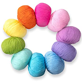 Studio Sam Pure Cotton Yarn Set for Knitting and Crochet